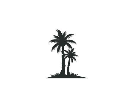 Illustration pour Palm tree summer logo template vector illustration nature - image libre de droit