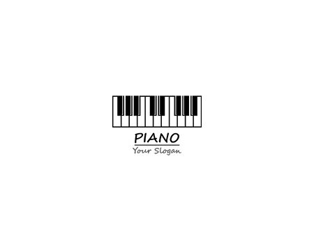 Piano keyboard icon template illustration design