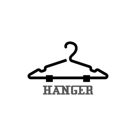 Illustration for Hanger cloth icon flat design concept vector template - Royalty Free Image