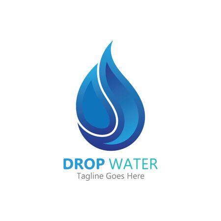 Illustration pour Creative Water drop Logo or icon Template vector illustration - image libre de droit