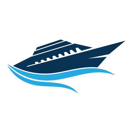 Illustration pour Cruise Ship Ocean Logo Template vector icon design - image libre de droit