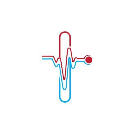 Illustration pour Letter I with Pulse line Logo Vector Element Symbol Template - image libre de droit