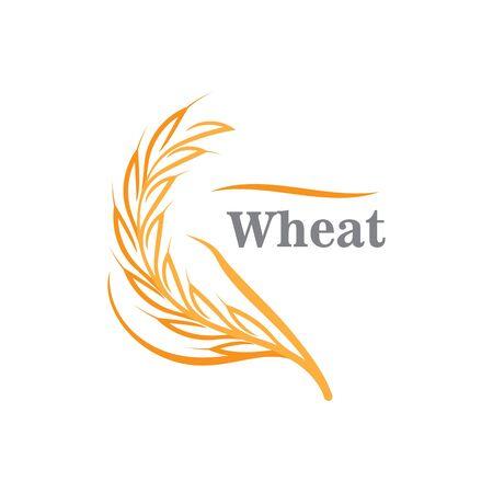 Illustration pour Agriculture wheat logo or symbol icon design illustration - image libre de droit