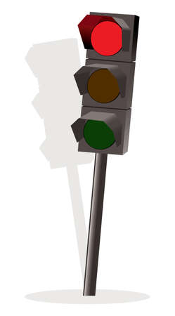 Traffic lights with red color