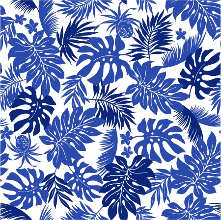 Blue Tropical Leaf