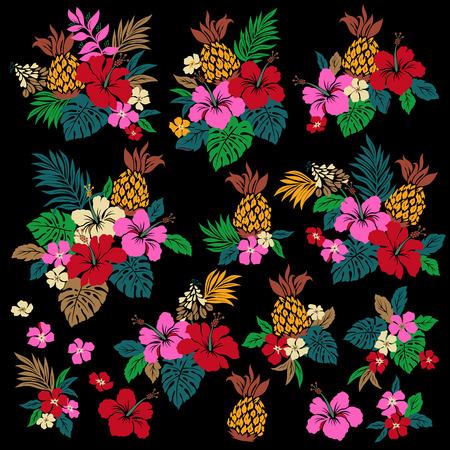 Illustration pour Hibiscus flower illustration - image libre de droit