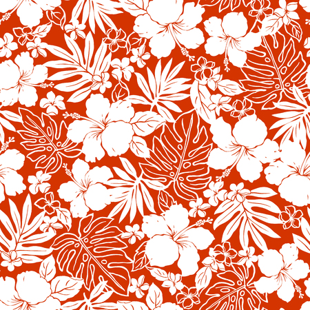 Illustration for Hibiscus flower pattern - Royalty Free Image