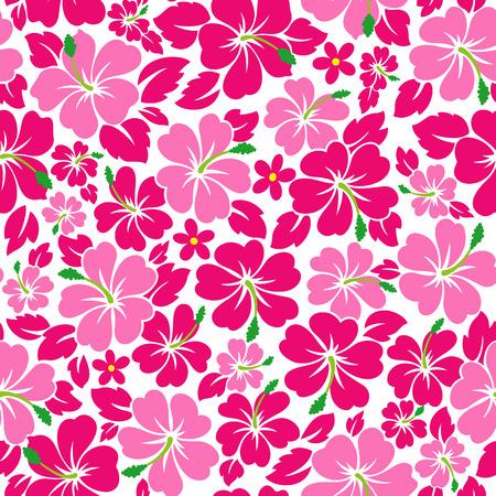 Illustration pour Tropical flower pattern - image libre de droit