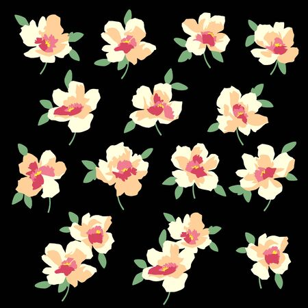 Illustration pour Flower vector material abstract beautifulillustrationly, - image libre de droit