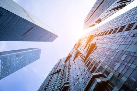 Foto de Low angle shot of modern glass buildings - Imagen libre de derechos
