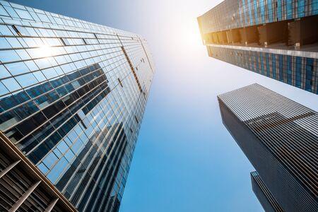 Photo pour Low angle shot of modern architecture - image libre de droit