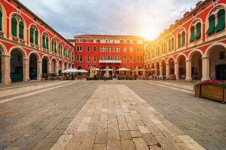 Photo pour Republic Square (Trg Republike) in the City of Split in Croatia. View of Republic Square in Split, Croatia. - image libre de droit