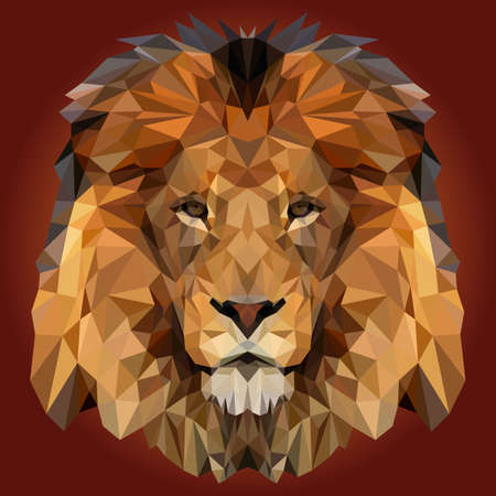 Illustration for Abstract Low Poly Lion Design - Royalty Free Image