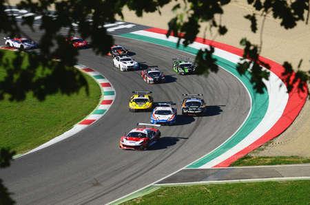 Mugello Circuit, Italy - 7 October, 2017: Start Race # 1 Final Round of GT Gran Turismo GT3 GT3 in Mugello Circuit.