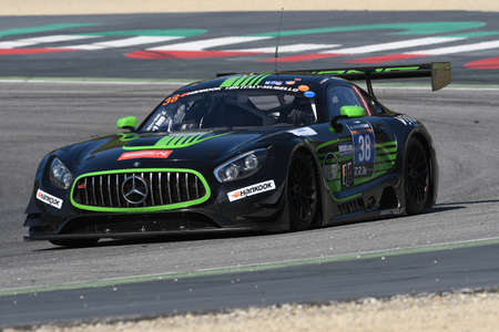 12h Hankook Mugello 18 March 2017: #38 MS Racing, Mercedes AMG GT3: Alexander Hrachowina , Edward Lewis Brauner, Martin Konrad, Zeljko Drmic on Mugello Circuit, Italy.