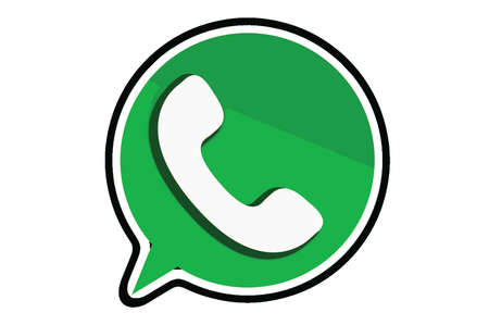 Florence, ITALY - APRIL 9, 2018: WhatsApp Messenger logo