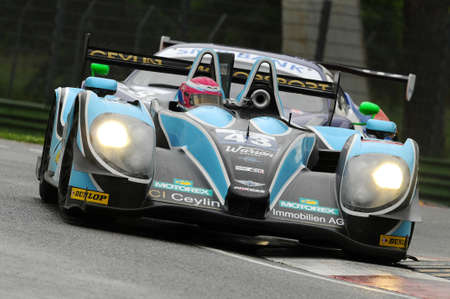 Imola, Italy May 17, 2013: Morgan - Judd of Team Morand Racing, driven by N. GACHNANG / F. MAILLEUX, in action during the European Le Mans Series - 3 Hours - Imola, Italy