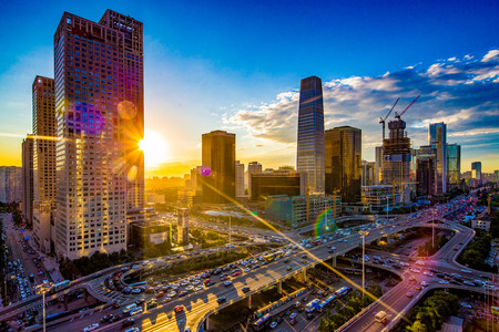 Foto per Beijing central business district - Immagine Royalty Free