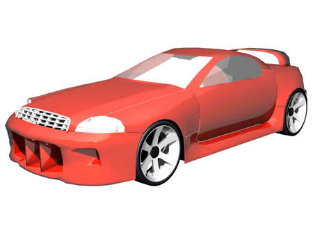 Illustration of a red sports car