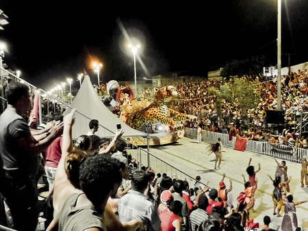 People enjoying the carnival festival in one city of brazil, in the state of Porto Alegre