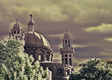 The National Shrine of the Sacred Heart of Jesus is a Catholic church which stands on top of a rise in Montevideo, so it is known as the Church of the Cerrito de la Victoria.