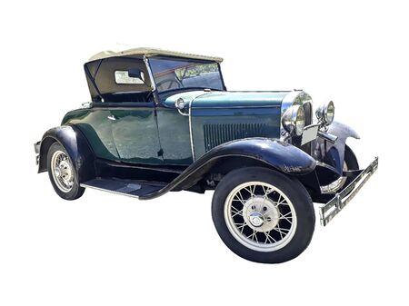 Photo pour Classic old style vintage vehicle parked at street, punta del este city, uruguay - image libre de droit