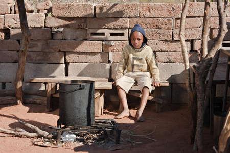 Poor African child from Mochudi village, Botswana