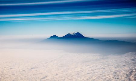 Photo pour Mount Kilimanjaro from the sky - image libre de droit