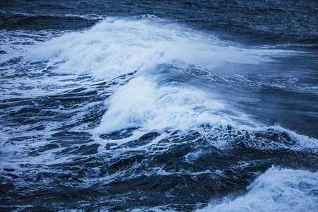 Waves in the ocean, Gatklettur, Iceland, North Atlantic Ocean