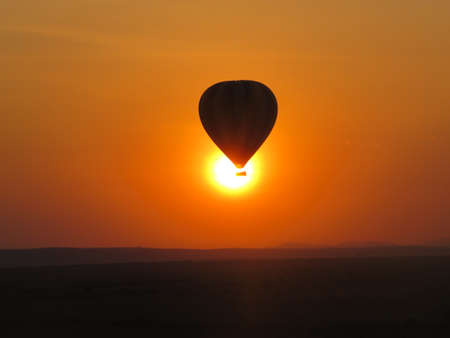 Sunrise in balloon