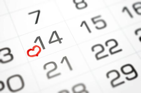 Photo for mark on the calendar February 14, Valentine's day soon, love, relationship - Royalty Free Image