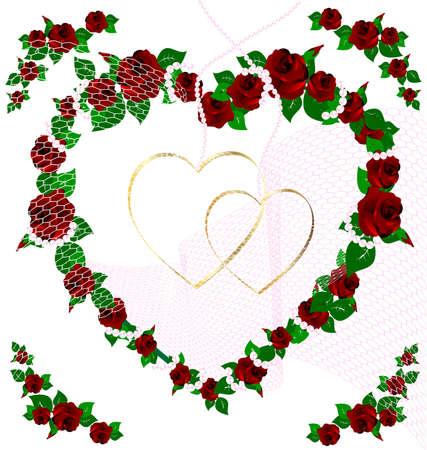 background wedding rose