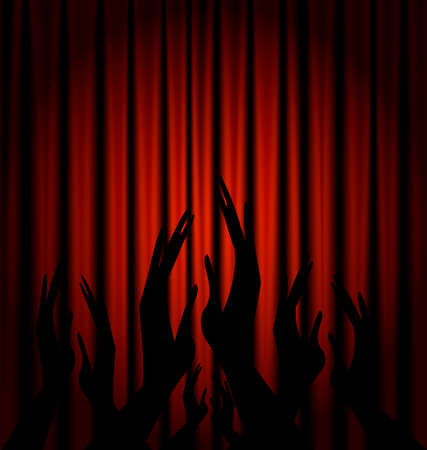 a red theater curtain and abstract applause
