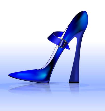 blue funny shoe
