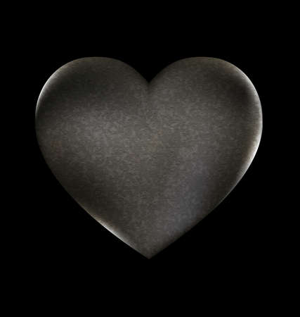 a dark background and a large heart-stone