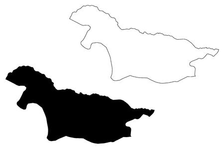 Nord-Ubangi Province (Democratic Republic of the Congo, DR Congo, DRC, Congo-Kinshasa) map vector illustration, scribble sketch Nord - Ubangi map