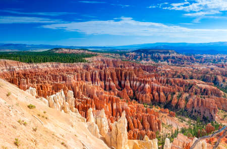 Incredible Bryce Canyon as Viewed From Sunrise Point at Bryce Canyon National Park,in  Utah, United States of America. Horizontal Image Composition