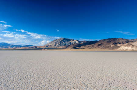 The Racetrack Playa Dry Lake in Death valley National Park in California.Horizontal Image