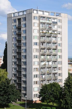 Typical socialist block of flats in Breclav (Czech Republic)