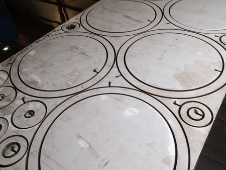 circle shaped stainless steel cut metal pieces laser cut