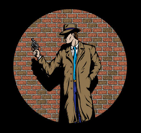 Old style Detective, such as from the fifties.