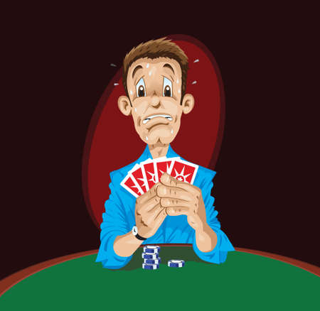 Scared Poker Player