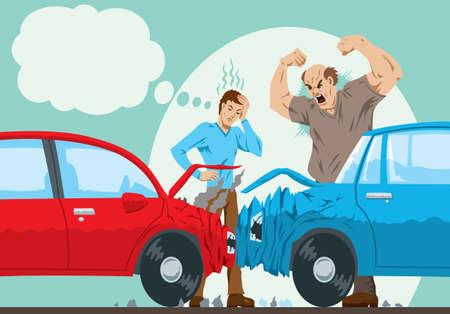 Illustration pour Car Accident  - image libre de droit