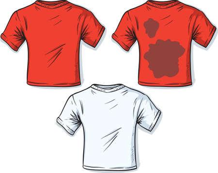 Illustration pour Stained t-shirt  - image libre de droit