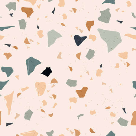 Foto de Set of Beautiful Terrazzo Seamless Pattern. Vector Illustration - Imagen libre de derechos