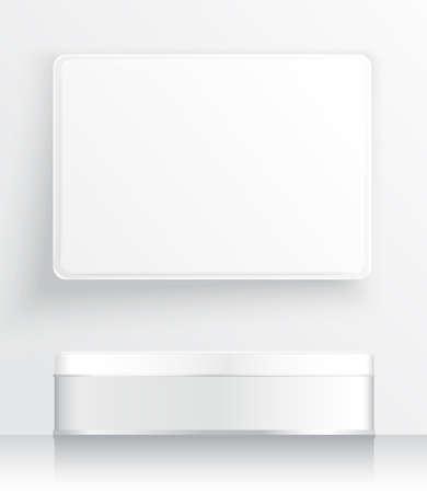Illustration pour Tin Box Template : Vector Ilustration - image libre de droit