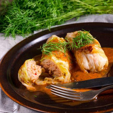 Photo pour Cabbage rolls out young cabbage - image libre de droit
