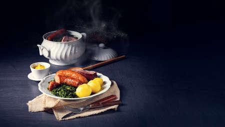 oldenburg kale with pinkel sausage and kassler