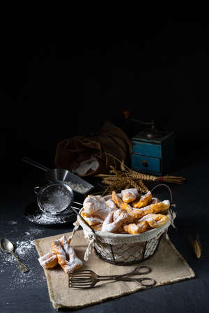 Photo for Raderkkuchen is a traditional Polish lard pastry. - Royalty Free Image