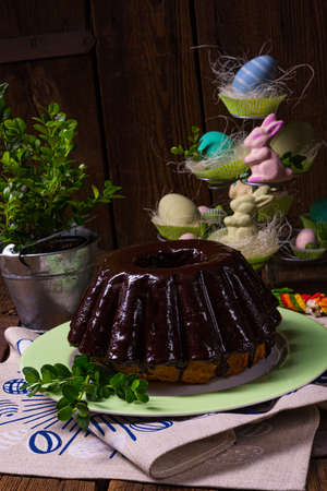 Delicious Polish Easter chocolate cake